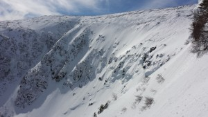 Tucks headwall area from Right Gully